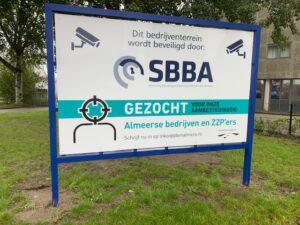 Borden SBBA op bedrijventerrein